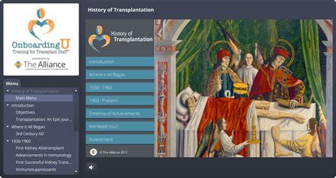 history organ donation  transplantation alliance