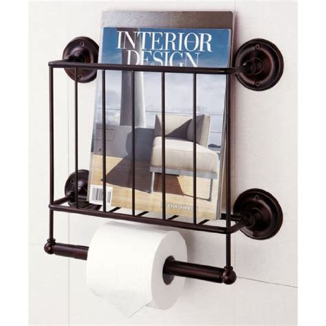 wall magazine holder bathroom perfect multifunctional bath unit for storing not just