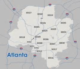 atlanta zip code map atlanta zip code map
