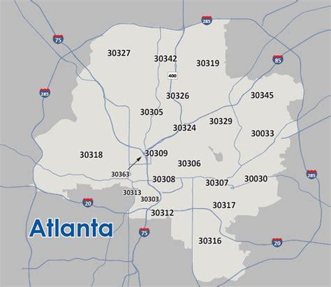 city of atlanta zip code map map of atlanta zip codes afputra com
