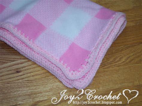 Fleece Baby Blanket Selimut Bayi 2 2 crochet fleece baby blankets with crocheted edge