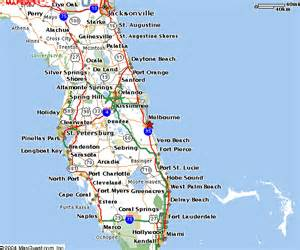 Florida Map East Coast by Melbourne Beach House