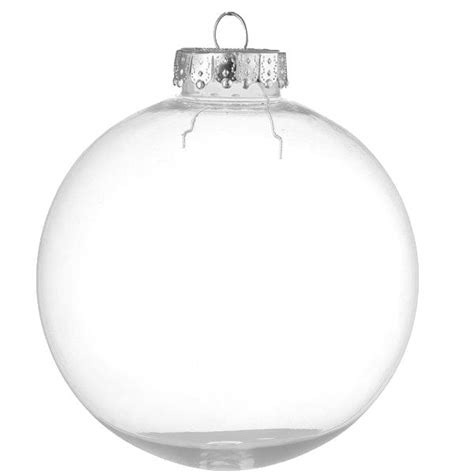 100mm clearfillable bauble 100mm clear seamless plastic quot glass style quot baubles craft ebay