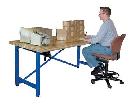 adjustable height work industrial desks metal desks warehouse desks