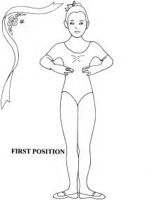 position coloring book ballet position coloring sheet