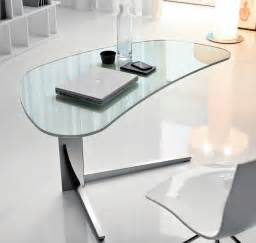 Cool Modern Desks Modern Glass Desks For Work