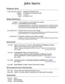 Resume For College Application Template by Templates 187 Curricula Vitae R 233 Sum 233 S