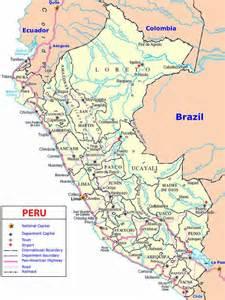 south america map peru map of peru