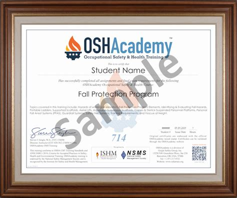 fall protection certification template fall protection program oshacademy free