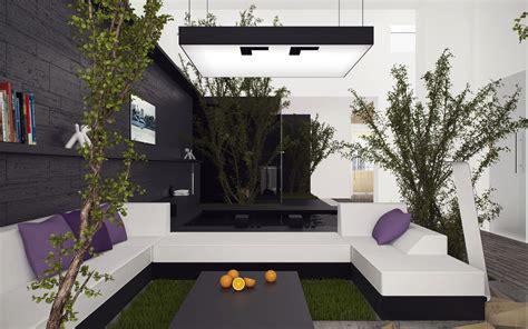 inside outside living room grass rug interior design ideas