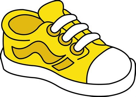 shoe clipart shoes clipart yellow shoe pencil and in color