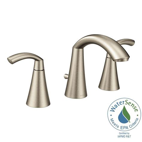 moen kitchen faucets brushed nickel moen glyde 8 in widespread 2 handle high arc bathroom