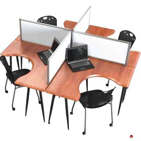 4 person office desk the office leader cluster of 4 person l shape office desk
