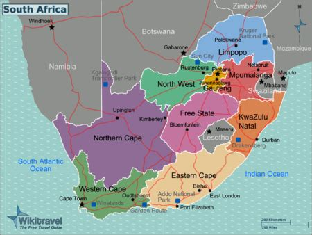 africa map divided into regions map of south africa provinces and capitals