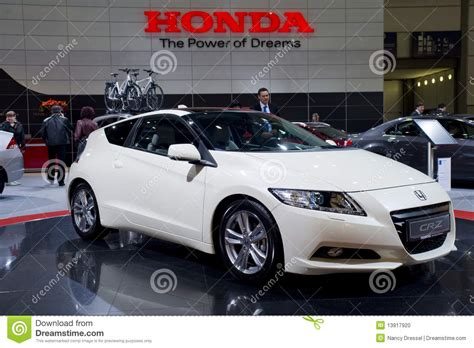 new honda sports car new honda cr z sports car editorial image image 13917920