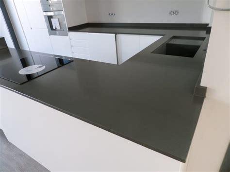 encimeras de cemento foto encimera de cocina en silestone cemento spa de