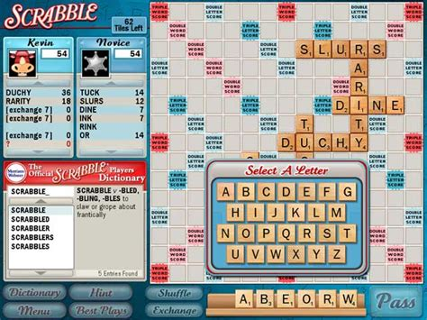 free scrabble with computer scrabble screenshot 3 chocosnow