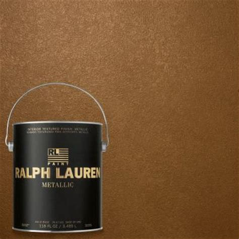 ralph 1 gal lush brown gold metallic specialty finish interior paint me140 the home depot