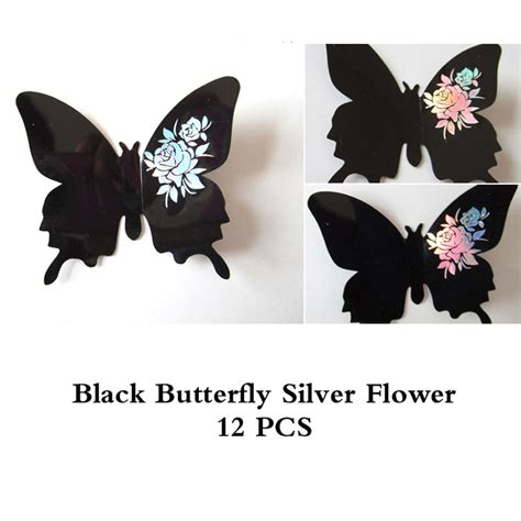 domire 12 pcs 3d butterfly new 12pcs lot 3d butterfly with flower wedding