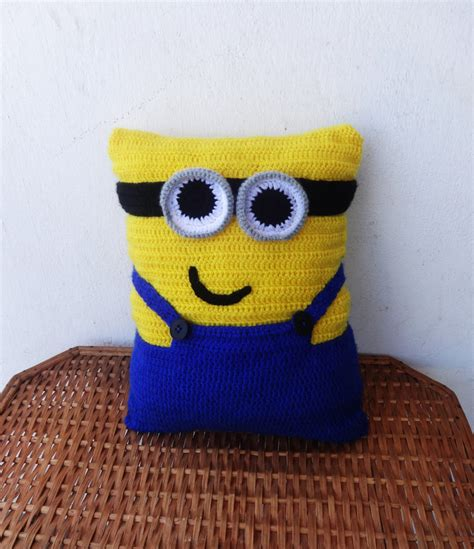 Minion Pillow minion pillow crochet pillow pillow by crazybutterflies