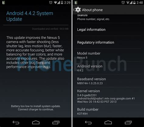 android 4 4 2 update for nexus 5 and nexus 7 now seeding in india phonebunch