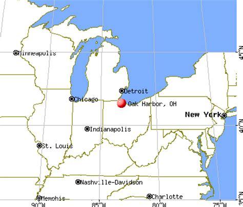 show me a map of ohio oak harbor ohio oh 43449 profile population maps