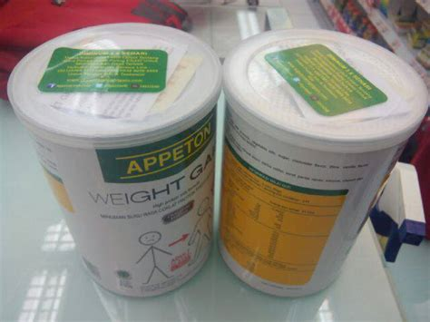 Appeton Weight Gain Coklat jual gemuk appeton weight gain 450gr rasa coklat