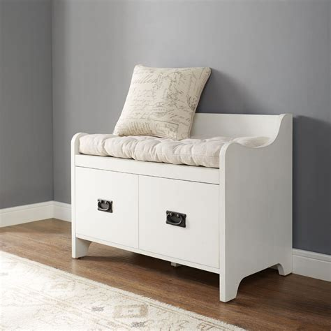 crosley furniture fremont entryway bench  distressed