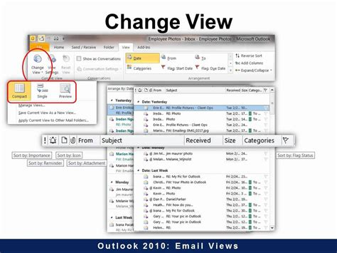 Outlook 2010 Search Not Showing Recent Emails Outlook 2010 Email Views