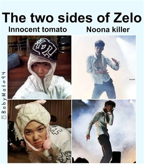 Bap Memes - two sides of zelo b a p k everything pinterest