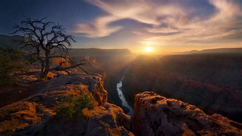 grand canyon national park  arizona usa sunset