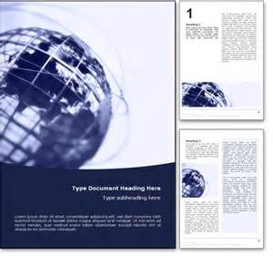 Doc Templates In Word by Royalty Free World Globe Microsoft Word Template In Blue