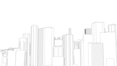 city background drawing animated drawing of a living in a city on white