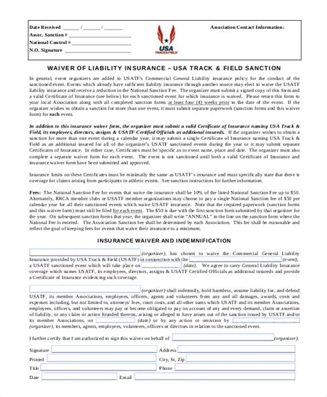 Waiver Template by 11 Liability Waiver Form Templates Pdf Doc Free