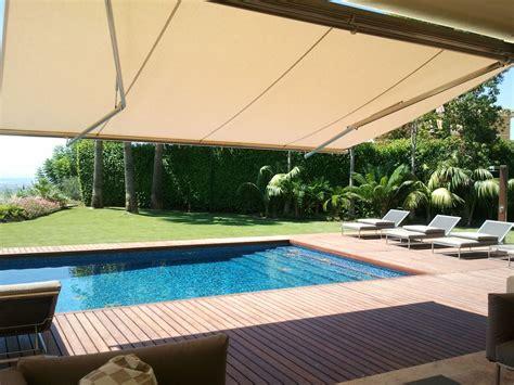 Normal  Porches Para Terrazas #9: Toldo-brazo-articulado-piscina.jpg