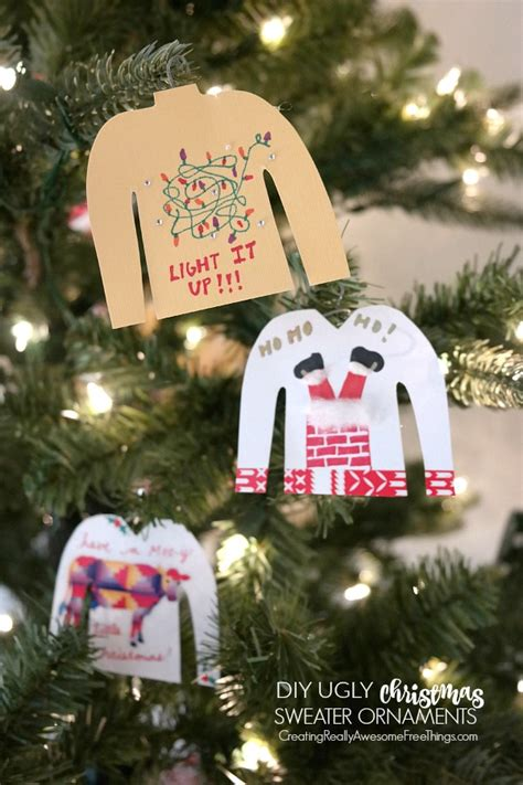 ugly christmas sweater party ideas craft