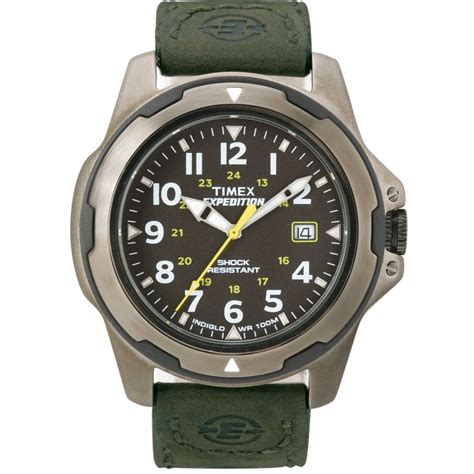 rugged analog timex expedition rugged metal field gent s t49271