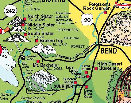 map of oregon mountain peaks oregon mountain range map