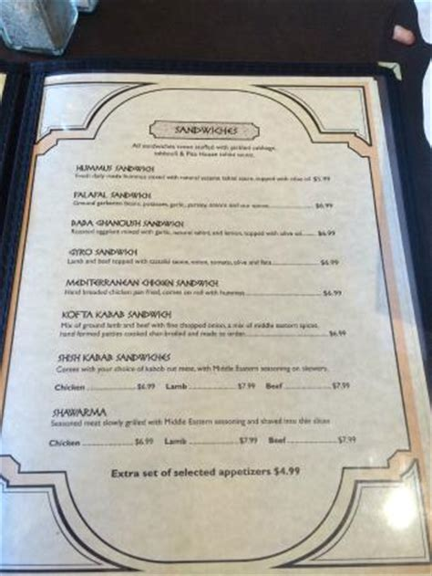 pita house menu menu 1 of 3 pages picture of pita house battle ground tripadvisor