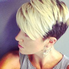 two toned asymetric bobs pintrest refreshed mint green highlight pixie cut before and