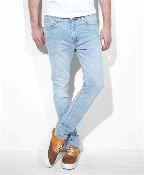 best light wash mens levi s 510 fit sung blue like the