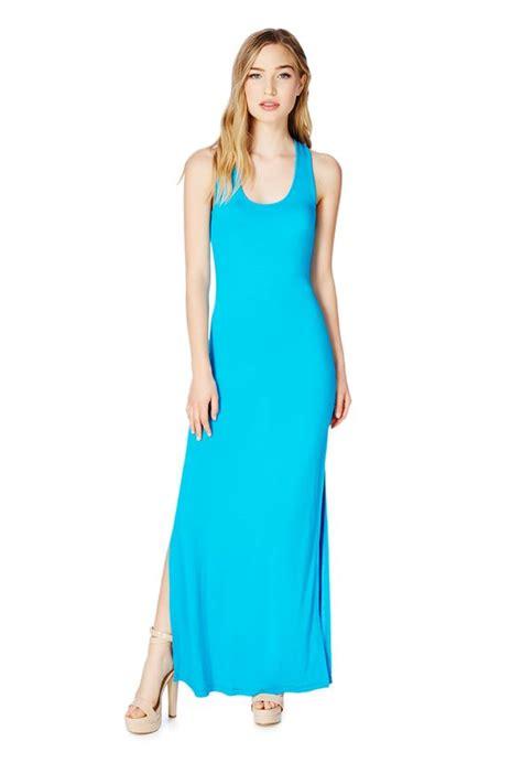 Maxi Renita tank knit maxi dress in cerulean get great deals at justfab