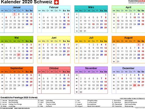 kalender  schweiz  excel zum ausdrucken