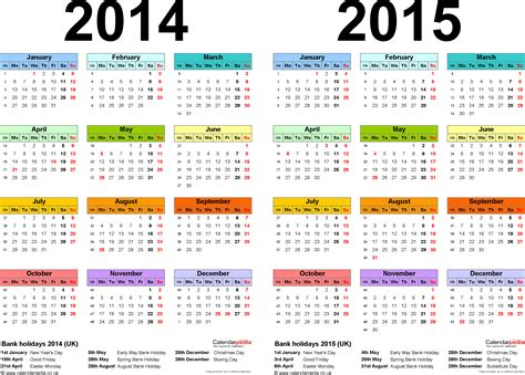 calendar 2014 template uk year calendar 2015 uk with holidays page 2 new calendar