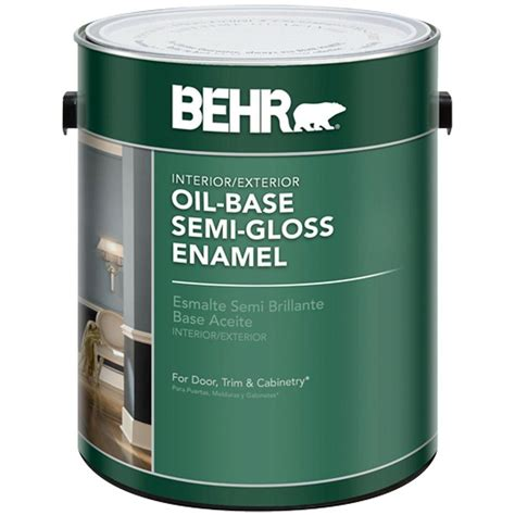 Behr Paint Colors Interior Home Depot behr 1 gal white semi gloss oil based interior exterior