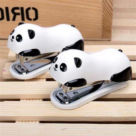 Stepler Panda mini panda stapler set kawaii panda paper binder within 1000pcs staples office school