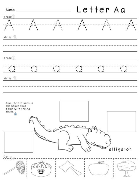 Letter A Worksheets Formal Letter Template Letter Template Activity