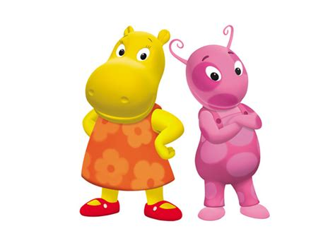 uniqua and from the backyardigans w dish