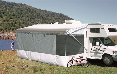 rv awning enclosure rv add a room add a spacious private room shadepro