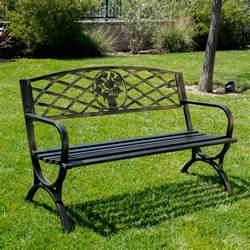 outdoor park bench 50 quot inch backyard porch garden benchs